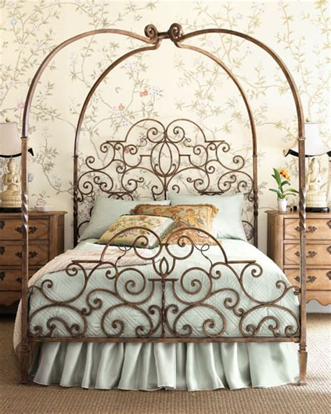 Antique Iron Canopy Bed Tuscany Canopy Bed From Horchow