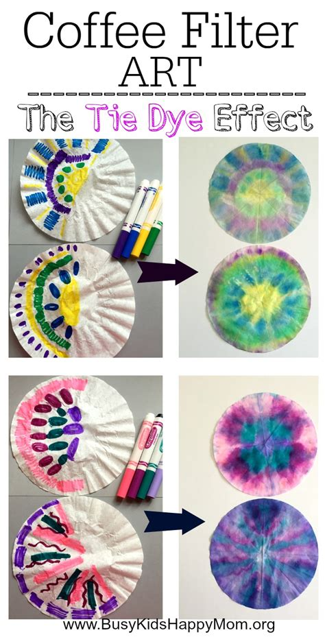 how to tie dye coffee filters for busy happy