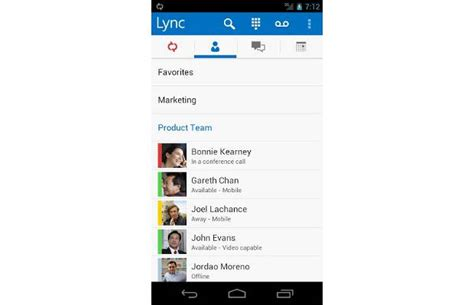 microsoft lync 2013 for android mobile phones phones phone information microsoft lync 2013 now available for