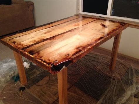 epoxy table top diy epoxy finished rustic dining table lego tray diy