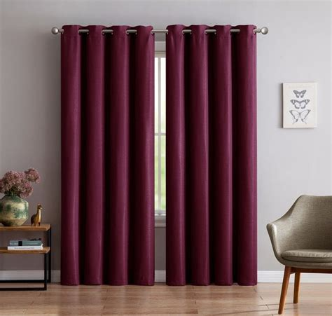 thick red curtains warm home designs 1 panel of extra thick premium burgundy