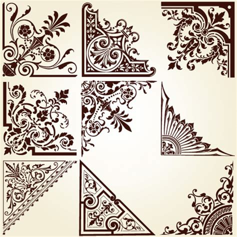 vintage ornament vector pattern vintage pattern area borders and ornaments vector 01