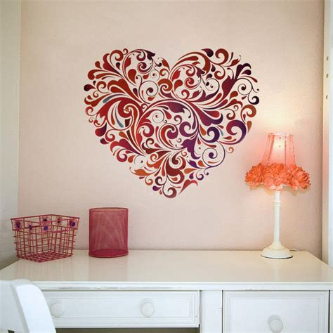 heart wall stickers for bedrooms diy ideas creative wall arts to decorate your house