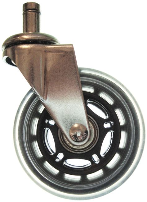 soft rubber roller blade style chair caster wheels