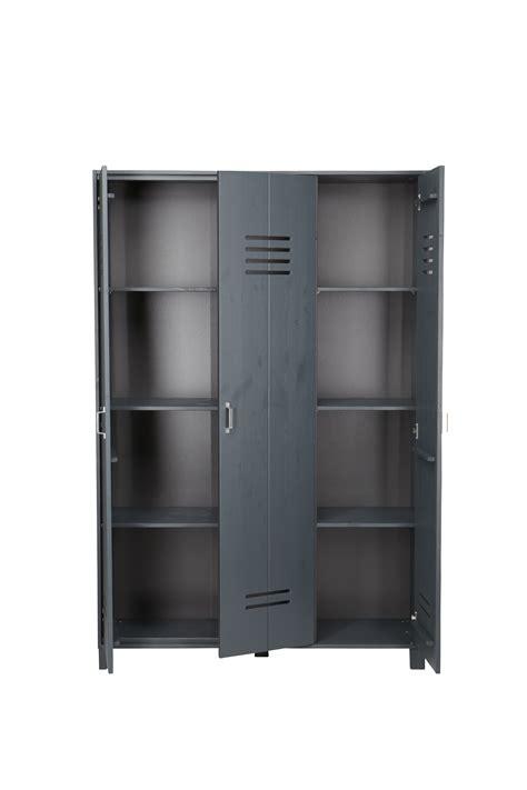 locker wardrobe brushed grey nest designs