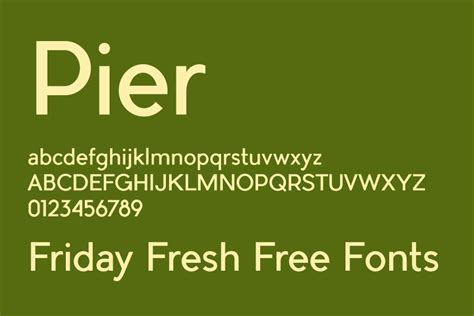 pier sans font download friday fresh free fonts pier bulgary cicero serif