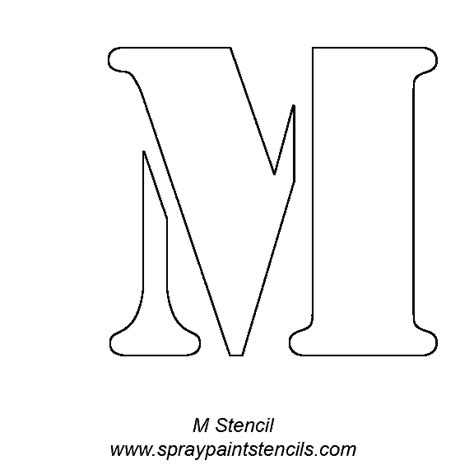 printable stencils of the alphabet alphabet letter stencils