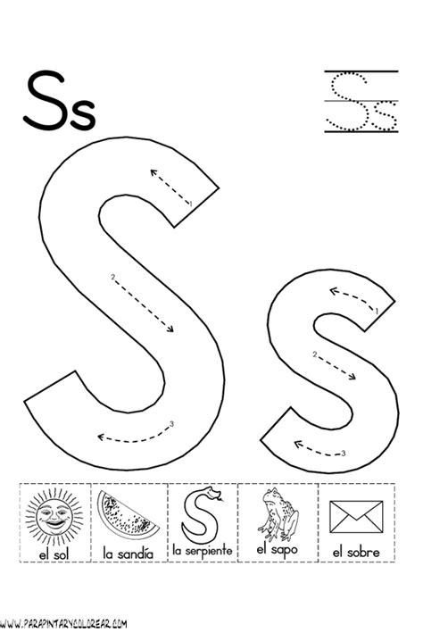 imagenes que empiecen con la letra s en ingles abecedario para colorear letra s