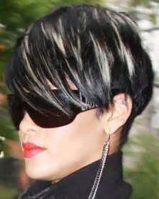black with haircuts and color short hairstyles with color streaks the best short