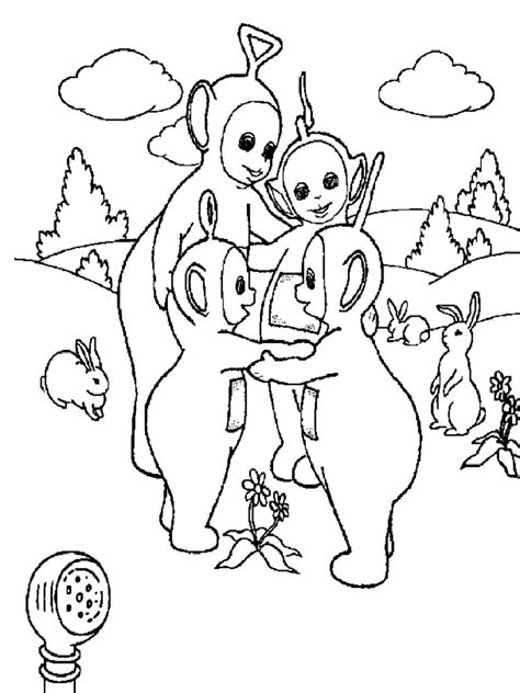 Teletubbies Coloring Pages by Teletubbies Coloring Pages And Print Teletubbies