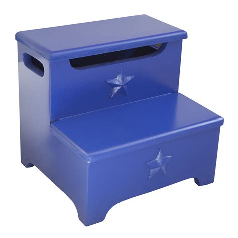 Storage Stool by Blue Storage Step Stool By Charn Company