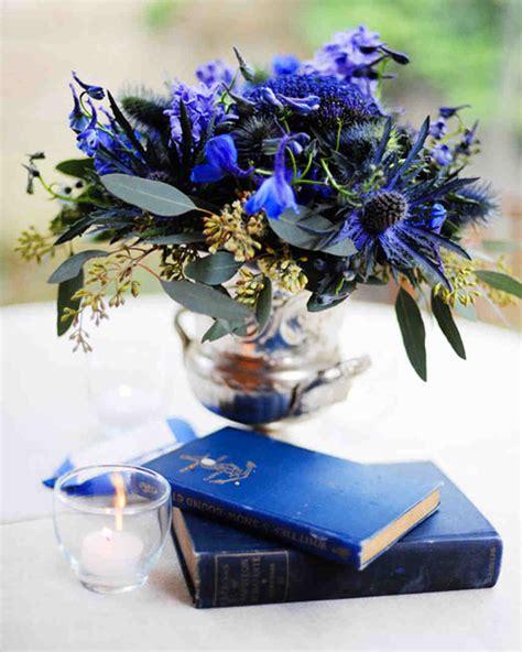 purple and blue wedding centerpieces martha stewart weddings