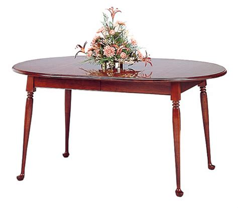 small oval dining table