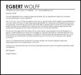 template for grievance letter grievance letter letters livecareer