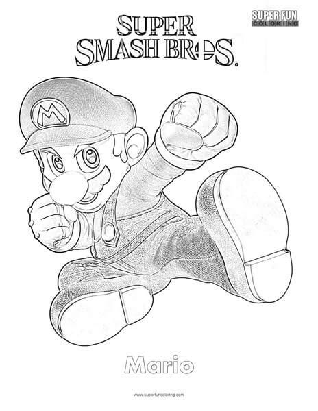 smash bros coloring pages mario smash brothers coloring page