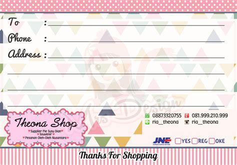 desain gambar online shop inspirasi address sticker untuk online shop mu