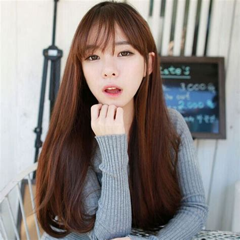 korean haircuts for long straight hair korean straight hairstyles for women with bangs www