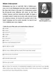 william shakespeare biography in simple english shakespeare biography worksheet the best and most