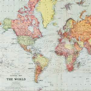 Wall Stickers World Map carte du monde ancienne r 233 edition map monde vintage