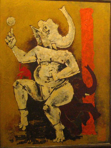 M F Hussain Sketches by 25 Beautiful Paintings Of Lord Ganesha
