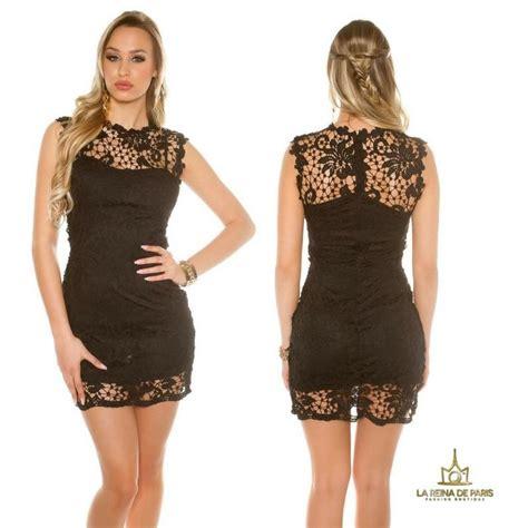 imagenes vestido negro comprar vestido negro encaje chic online vestidos de