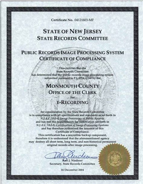 Monmouth County Clerk Property Records New Jersey County Recording