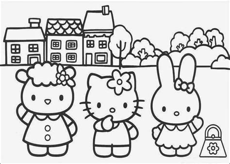 coloring pages hello kitty and friends 20 free printable hello kitty coloring pages fit to print