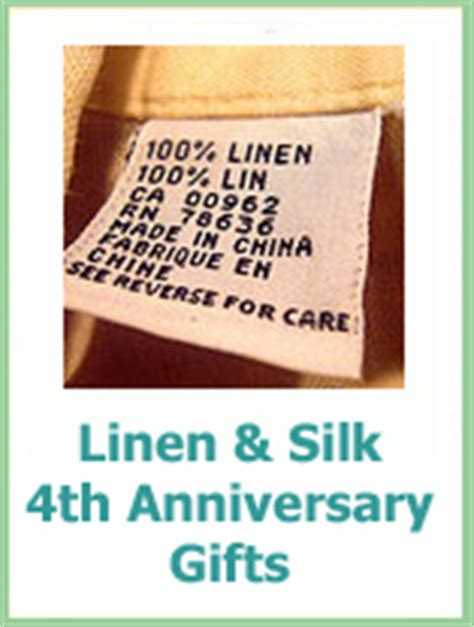 4th Wedding Anniversary Linen Ideas by Traditional Wedding Anniversary Gifts Ideas By Year For