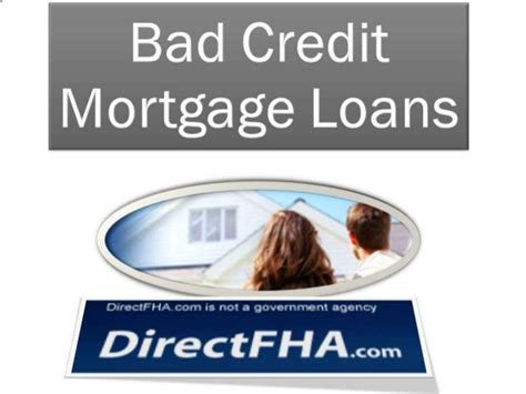 bad credit mortgage loans