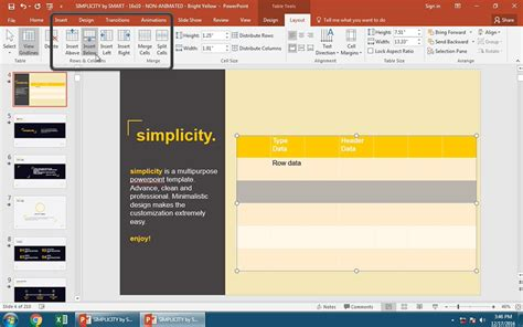 How To Add A Table To Powerpoint In 60 Seconds Insert Template Powerpoint