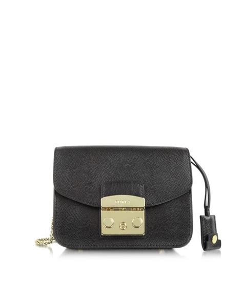 Furla Metropolis Mini 8 lyst furla metropolis mini crossbody bag in black save 45