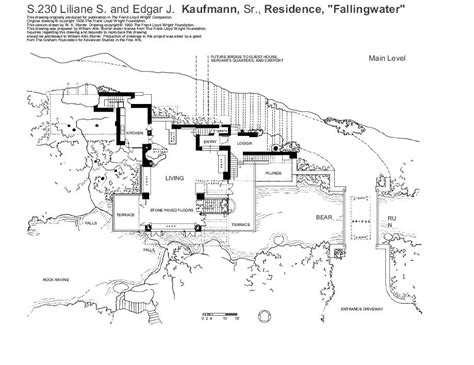 falling water floor plan pdf 100 fallingwater floor plans sketchup 落水山莊