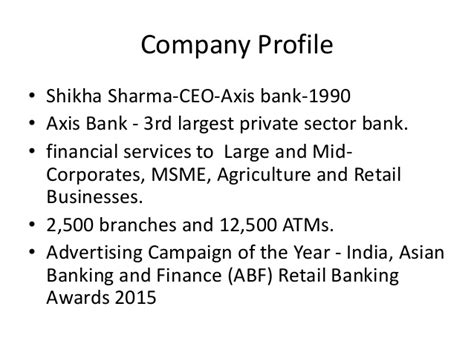 axis bank company profile axis bank strengthens brand with progressive caign on