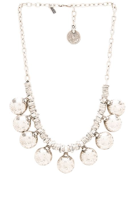 natalie brown jewellery lyst natalie b jewelry coin of ata necklace in metallic