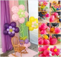 Birthday Decoration Ideas At Home With Balloons Wonderful Diy Pretty Balloon Flowers For
