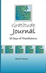 the gratitude experiment a 30 day journal books gratitude journal 30 days of thankfulness maryll frances