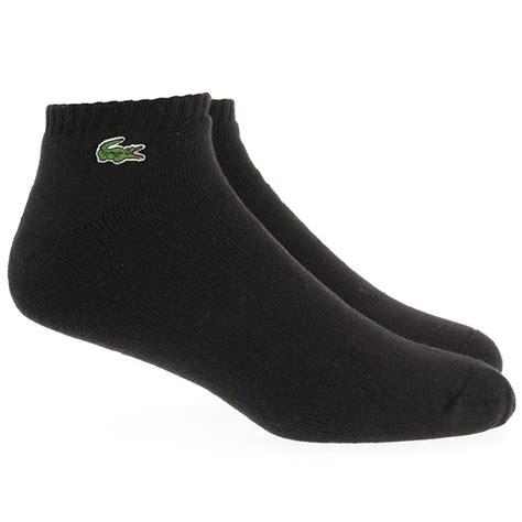 caillou slippers lacoste caillou socks logo trainer sock black white or