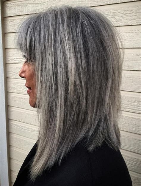 hairstyles for salt and pepper hair for women 60 gorgeous hairstyles for gray hair