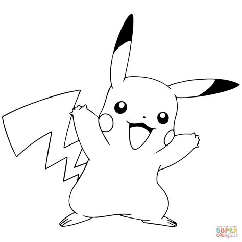 pokemon coloring pages pichu pok 233 mon go pikachu celebrating coloring page free