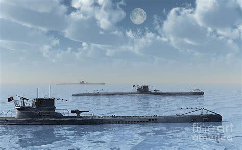 u boat wolfpack a wolfpack of german u boat submarines digital art by mark