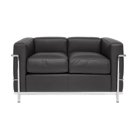corbusier loveseat corbusier designed sofa lc 22 steelform design classics