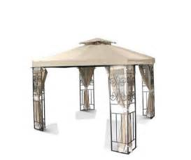 Patio Gazebo Replacement Covers New Two Tiered 10x10 Replacement Garden Patio Gazebo Canopy Top Cover Beige Ebay