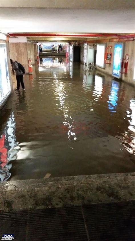 metro porta di roma roma metro a allagata fuori uso le fermate di porta