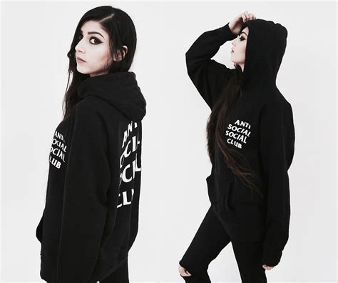 Hoodie Anti Sosial Sosial Club Ione 3 mimi akumette wscloth hoodie anti social social club