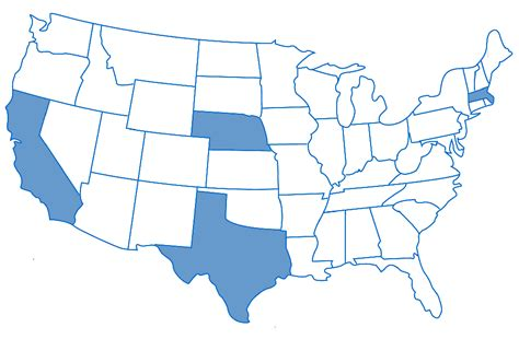 usa map california highlighted map