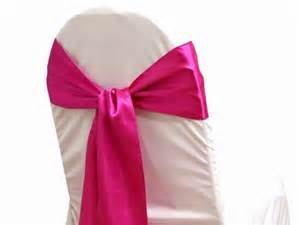 chair ribbons fuschia chair sashes by mistykarr on etsy