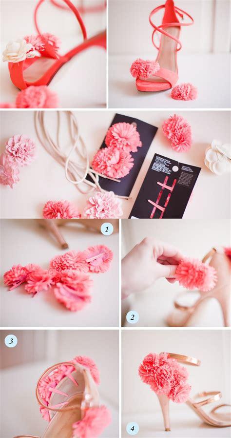 diy flower shoes simple to make diy footwear pinkous