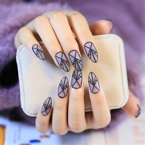 matte pointed nails fashion clear matte nails pointed acrylic false