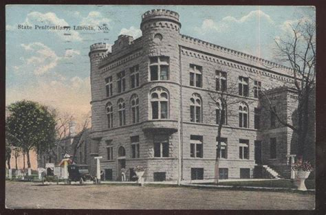 nebraska state penitentiary lincoln ne postcard lincoln nebraska ne state prison penitentiary