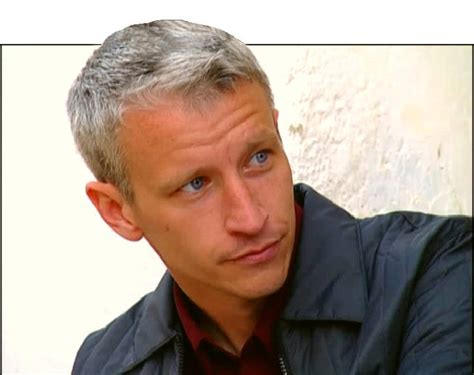 cnn reporter side gray hair dyed anderson cooper is sexier with battle scars from egypt